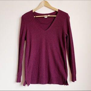juicy berry colour knit light long knit top